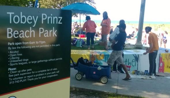 David Orr speaks at Tobey Prinz Beach Park Dedication